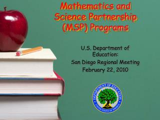 Mathematics and Science Partnership MSP Programs
