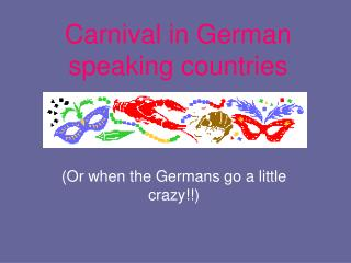 Carnival in German speaking countries