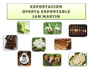 EXPORTACION  OFERTA EXPORTABLE  SAN MARTIN