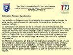 COLEGIO CHAMPAGNAT   VILLA ALEMANA                Fonos Fax  2950036- 2531494.  Fax 2953638   Avda. Champagnat 270  INFO