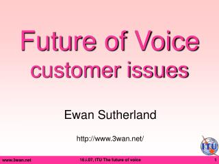 Future of Voice customer issues