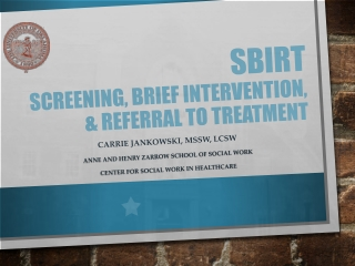 Screening, Brief Intervention, Referral and Treatment with Adolescents in School Settings