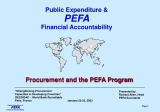 Presented by: Richard Allen, Head PEFA Secretariat