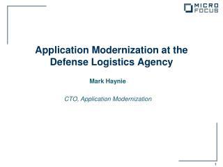 Application Modernization at the Defense Logistics Agency