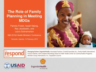The Role of Family Planning in Meeting MDGs