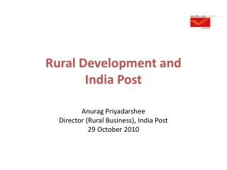 Rural Development and  India Post