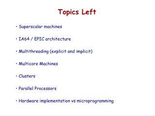 Topics Left