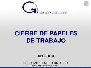 CIERRE DE PAPELES DE TRABAJO