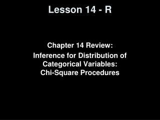 Lesson 14 - R