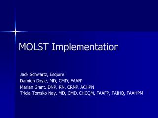 MOLST Implementation