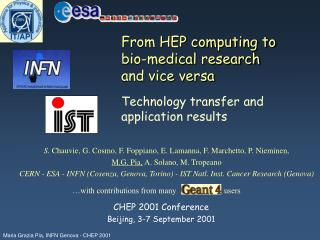 From HEP computing to bio-medical research  and vice versa  Technology transfer and application results