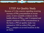 UTEP Air Quality Study