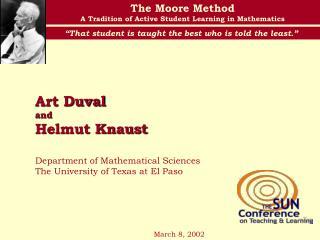 Art Duval  and  Helmut Knaust