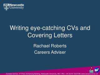 Writing eye-catching CVs and Covering Letters