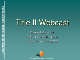 Title II Webcast