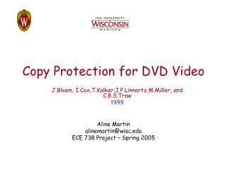 Copy Protection for DVD Video