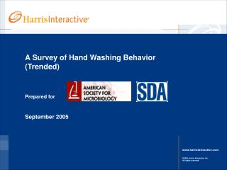 A Survey of Hand Washing Behavior  Trended
