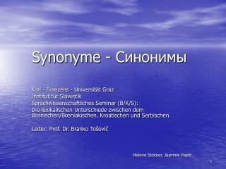 Synonyme -
