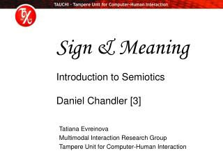 Sign  Meaning  Introduction to Semiotics  Daniel Chandler [3]