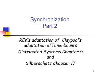 Synchronization Part 2