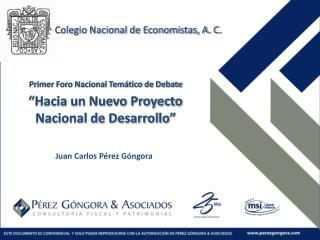 Primer Foro Nacional Tem tico de Debate   Hacia un Nuevo Proyecto Nacional de Desarrollo