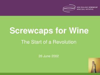 Screwcaps for Wine