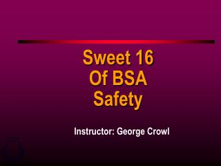 Sweet 16 Of BSA Safety