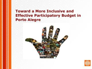 Toward a More Inclusive and Effective Participatory Budget in Porto Alegre