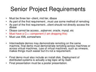 Senior Project Requirements