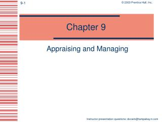Appraising and Managing