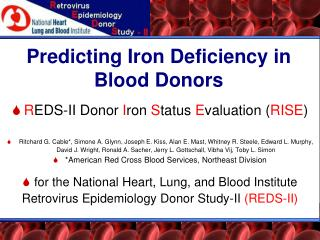 Predicting Iron Deficiency in Blood Donors