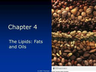 The Lipids: Fats and Oils