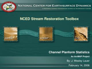 NCED Stream Restoration Toolbox Channel Planform Statistics