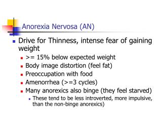 Anorexia Nervosa AN