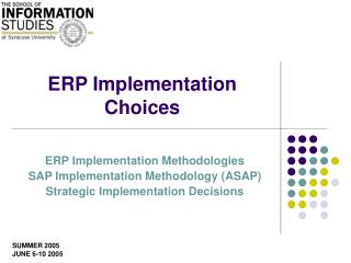 ERP Implementation Choices