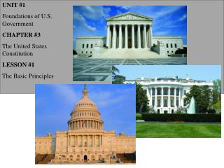 UNIT 1            Foundations of U.S. Government CHAPTER 3 The United States Constitution LESSON 1 The Basic Principles