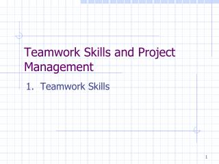 Teamwork Skills and Project Management