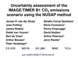Uncertainty assessment of the IMAGE