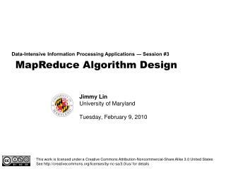 MapReduce Algorithm Design