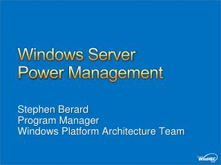 Windows Server Power Management