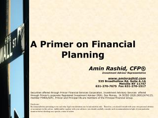 A Primer on Financial Planning
