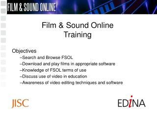 Film  Sound Online Training