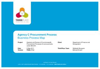Agency C Procurement Process Business Process Map
