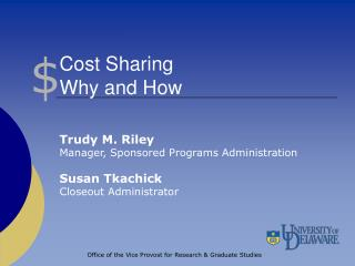 Cost Sharing Why and How
