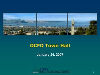 OCFO Town Hall