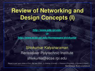 Review of Networking and Design Concepts I