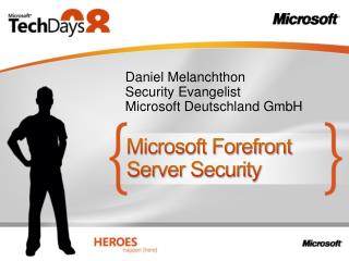 Microsoft Forefront Server Security
