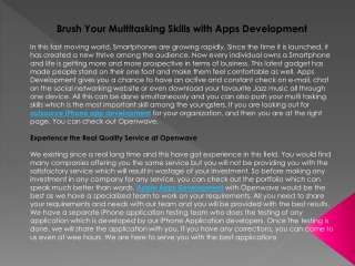 Brush Your Multitasking Skills with Apps Development