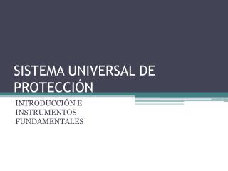 SISTEMA UNIVERSAL DE PROTECCI N