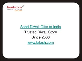 Send Diwali Gifts to India from Talash.com